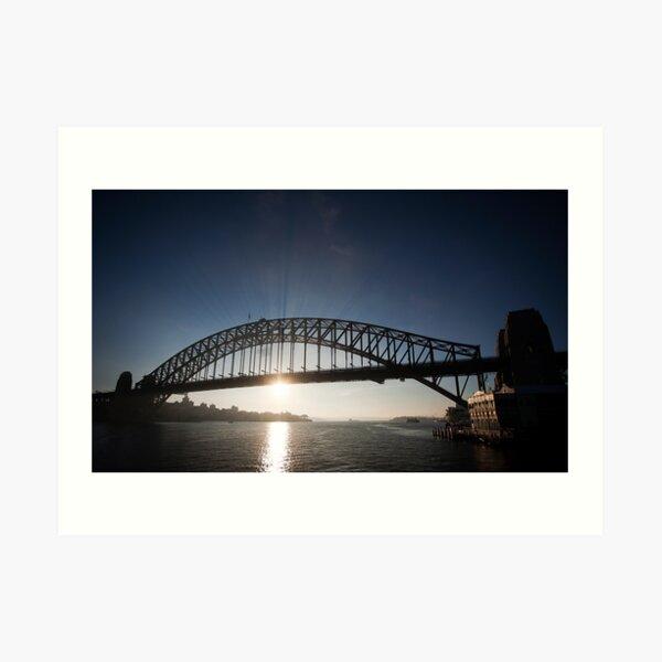 Sydney Harbour Bridge, Early Morning Rays Art Print