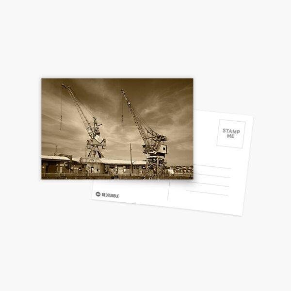 Cockatoo Dock Crane Twins Postcard