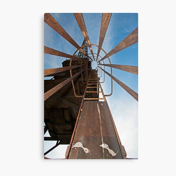 Cockatoo Dock Crane Ladder Metal Print