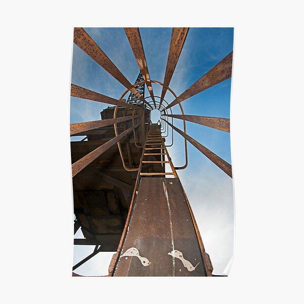Cockatoo Dock Crane Ladder Poster