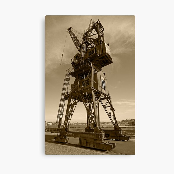 Cockatoo Dock Straddle Crane Canvas Print