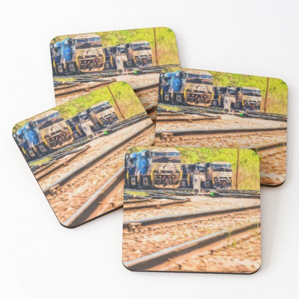 Norfolk Southern  Coasters (Set of 4)