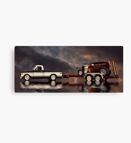 On Tow Canvas Print