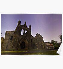 Kirkstall Abbey Cistercian monastery Leeds West Yorkshire Poster