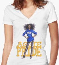 A&T Diva Women's Fitted V-Neck T-Shirt