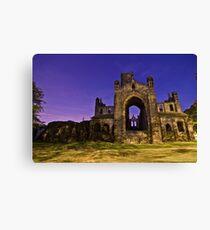 Kirkstall Abbey Cistercian monastery Leeds West Yorkshire Night Canvas Print