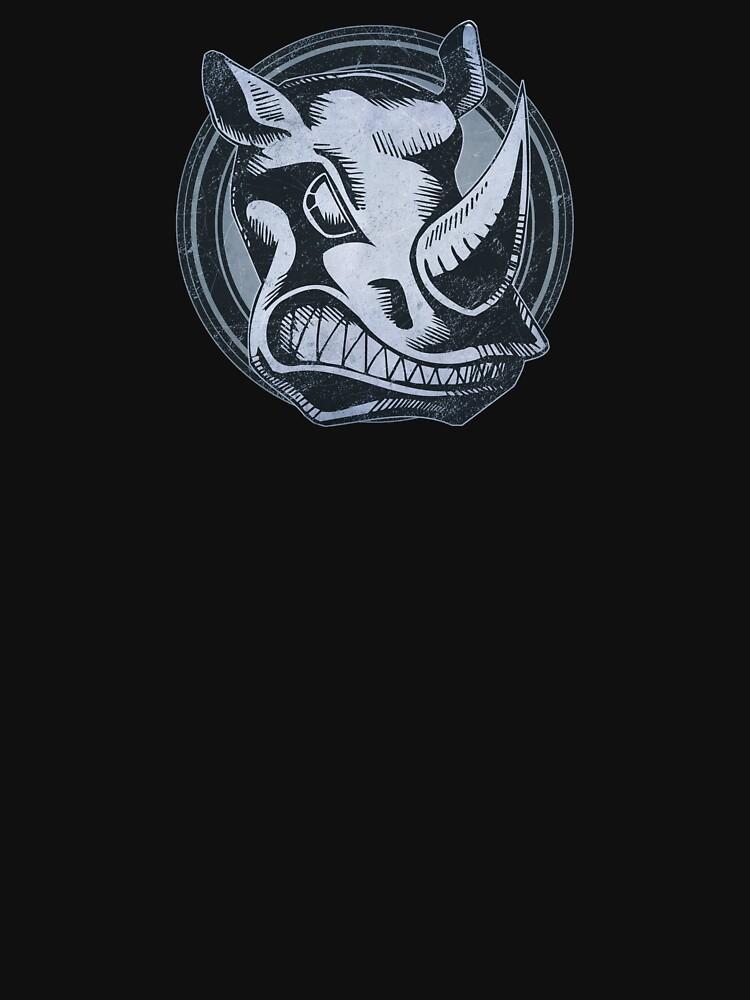 Wild Rhino Grunge Animal by wheedesign