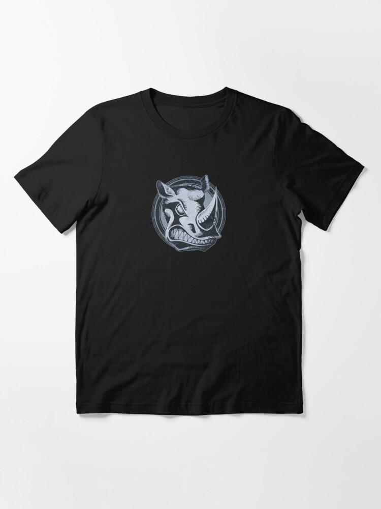 Alternate view of Wild Rhino Grunge Animal Essential T-Shirt