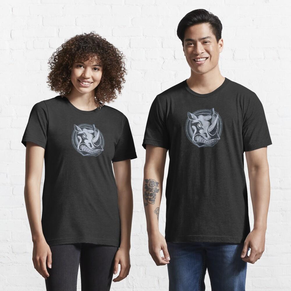 Wild Rhino Grunge Animal Essential T-Shirt