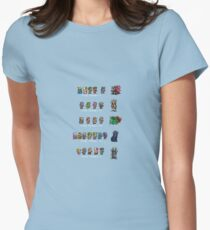 Final Fantasy I to V Womens Fitted T-Shirt