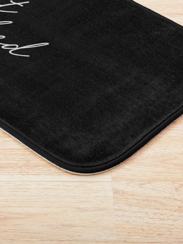 Alternate view of get naked, black and white Bath Mat