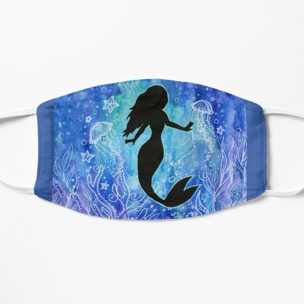 Mermaid Underwater Watercolor Painting Flat Mask