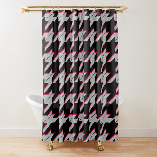 houndstooth pattern gray Shower Curtain