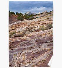 Sandstone Patterns at Split Mountain 2 Poster
