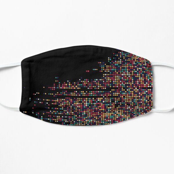 Abstract Colorful Pattern Flat Mask