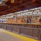 People waiting for a train, Newark Penn Station Series by mikepaulhamus