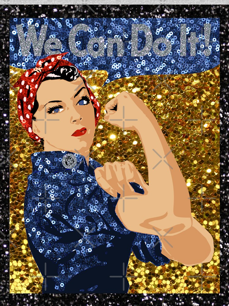 glitter print rosie the riveter by gossiprag