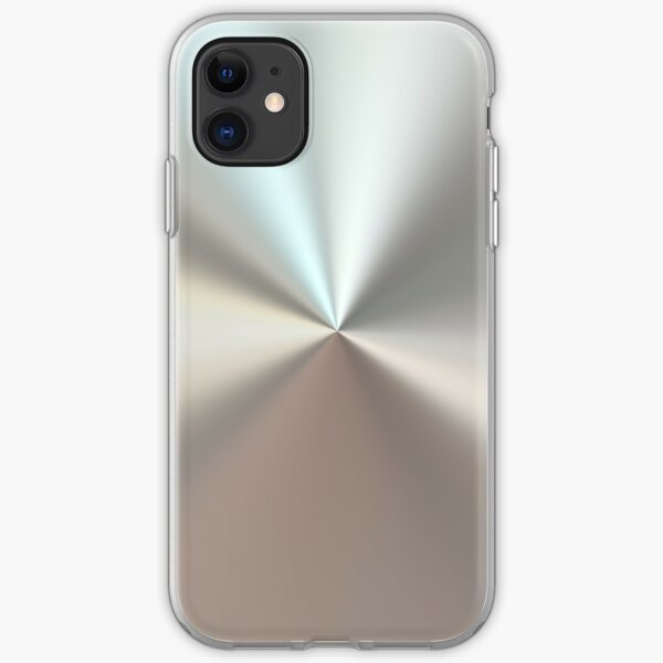 Shiny brushed silver surface iPhone Soft Case