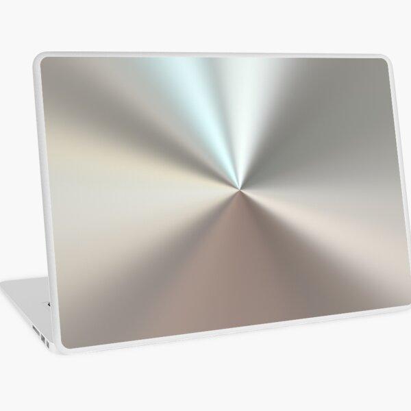 Shiny brushed silver surface Laptop Skin