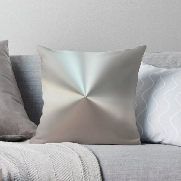 Shiny brushed silver surface Throw Pillow