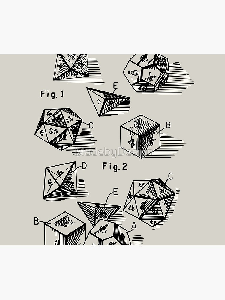 Patent Prints 1999 - RPG Set of Dice by MadebyDesign