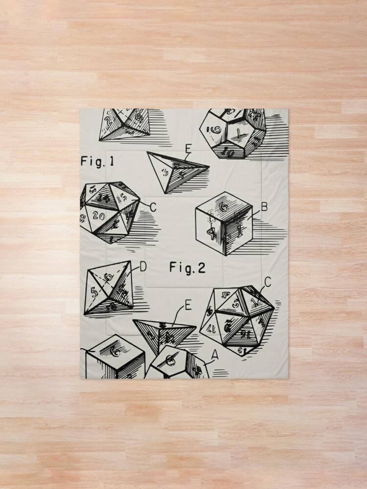 Alternate view of  Patent Prints 1999 - RPG Set of Dice Comforter
