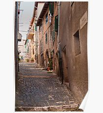 Walking in Segni Italy Poster