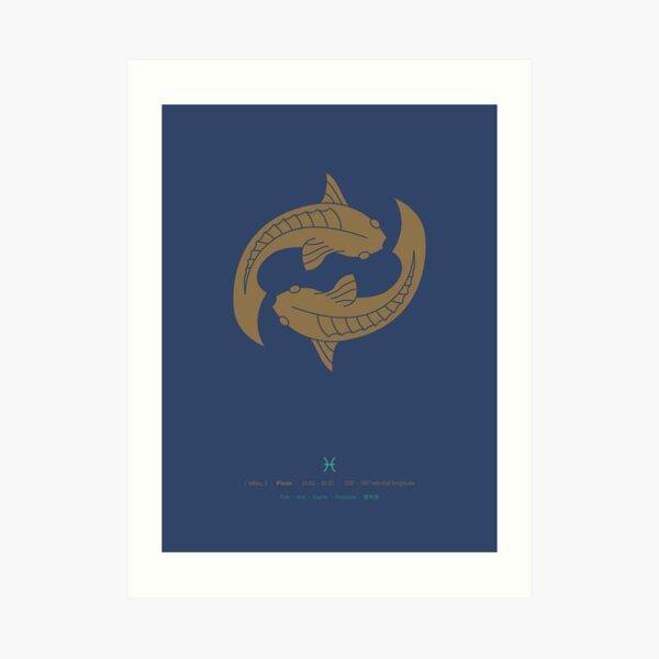 Pisces Zodiac / Fish Star Sign Poster Art Print