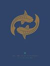 Pisces Zodiac / Fish Star Sign Poster by Thoth Adan