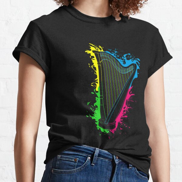 Harp String Instrument Musical Gift Idea Classic T-Shirt