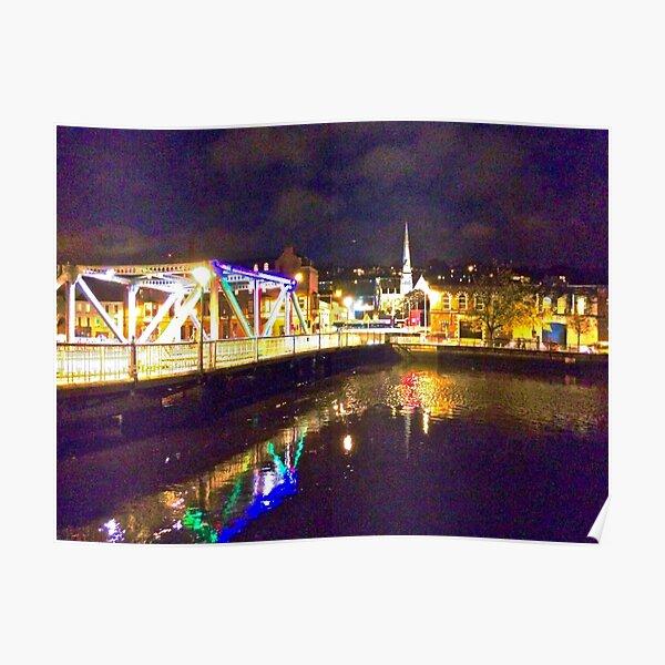 Moonlit night on Merchant´s Quay 002 Poster