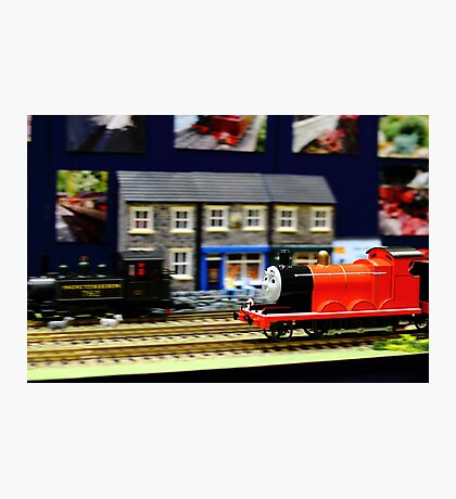 James the red engine Photographic Print