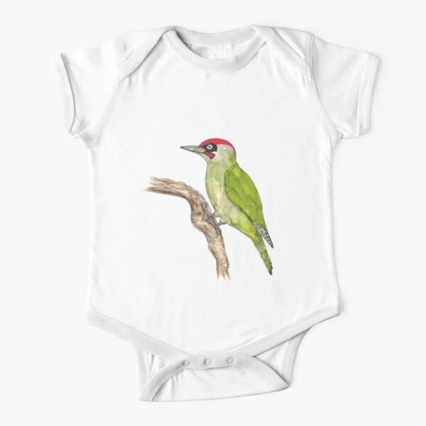 European green woodpecker Short Sleeve Baby One-Piece