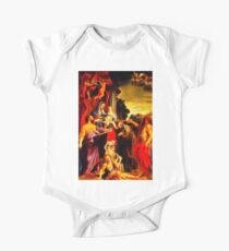 Madonna Enthroned with Saint Matthew One Piece - Short Sleeve