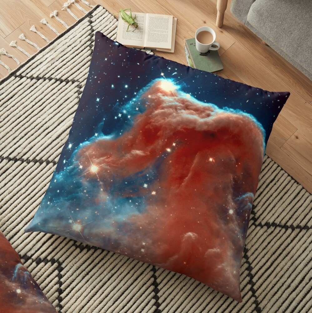 The Horsehead Nebula in Orion. Hubble Image. Isn't Astronomy Wonderful! Floor Pillow