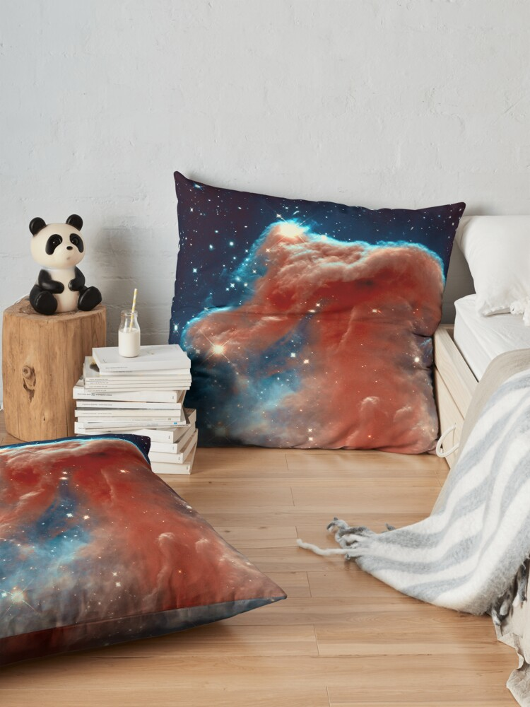Alternate view of The Horsehead Nebula in Orion. Hubble Image. Isn't Astronomy Wonderful! Floor Pillow