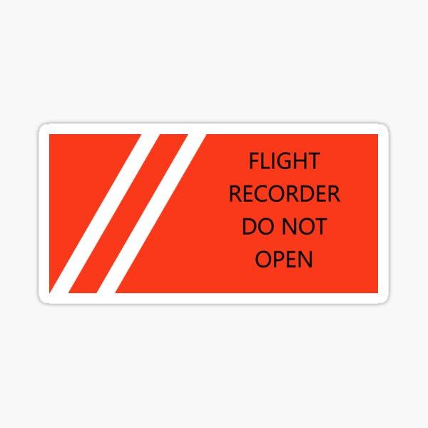 Black Box Flight Recorder Sticker