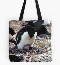 Aelelie Penguins in the Rookery Tote Bag