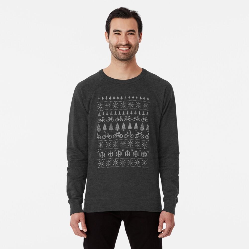 Christmas Cycling Jumper | Red Lightweight Sweatshirt