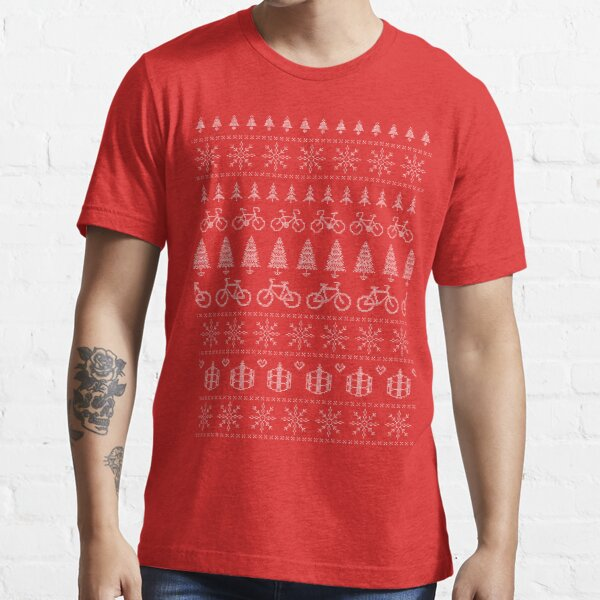 Christmas Cycling Jumper | Red Essential T-Shirt