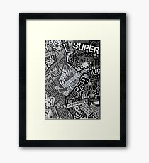 Typography Grayscale Framed Print