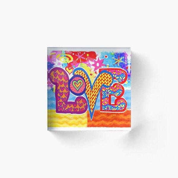 LOVE 2 Acrylic Block
