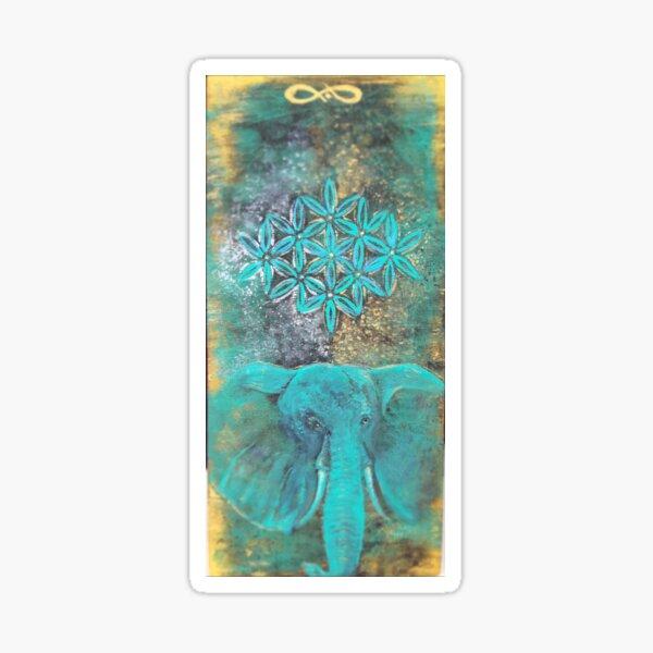 Elephant & seed of life  Sticker