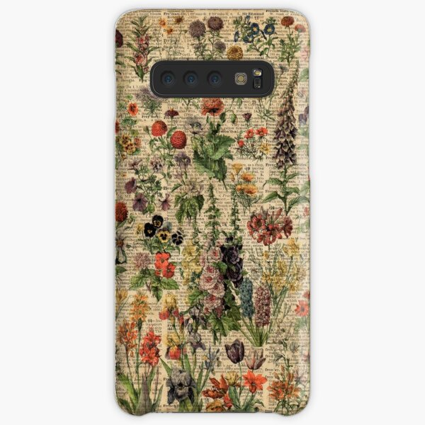 Colourful Wild Meadow Flowers Over Vintage Dictionary Book Page Samsung Galaxy Snap Case