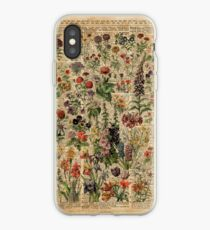 Colourful Wild Meadow Flowers Over Vintage Dictionary Book Page iPhone Case