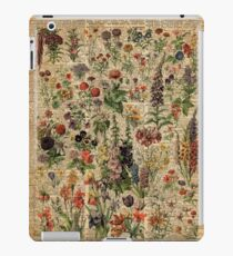 Colourful Wild Meadow Flowers Over Vintage Dictionary Book Page iPad Case/Skin