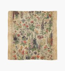 Colourful Wild Meadow Flowers Over Vintage Dictionary Book Page Scarf