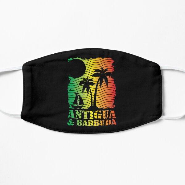 Antigua and Barbuda Island Scene - Ites Gold and Green Flat Mask
