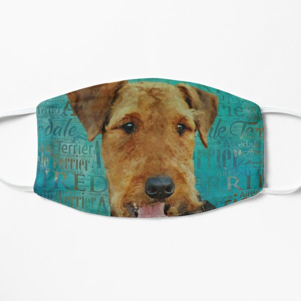 Airedale Terrier Portrait on Word Art Mask