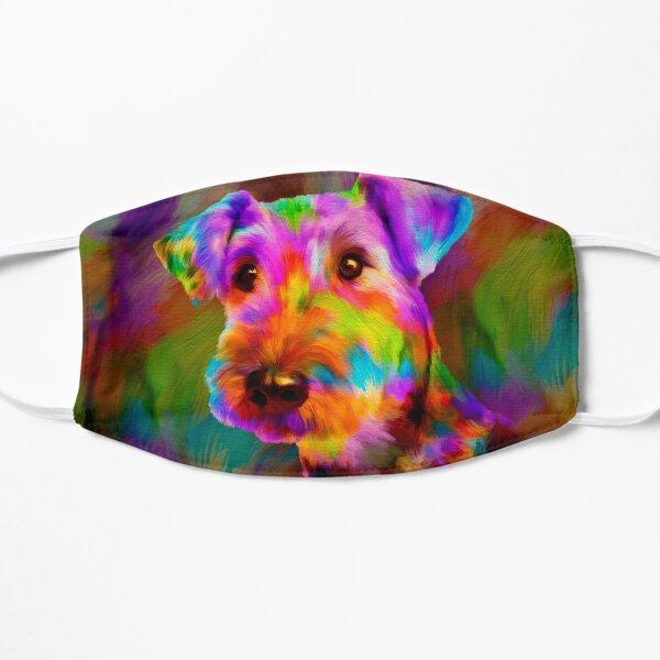 Colorful Airedale Terrier Portrait  Mask